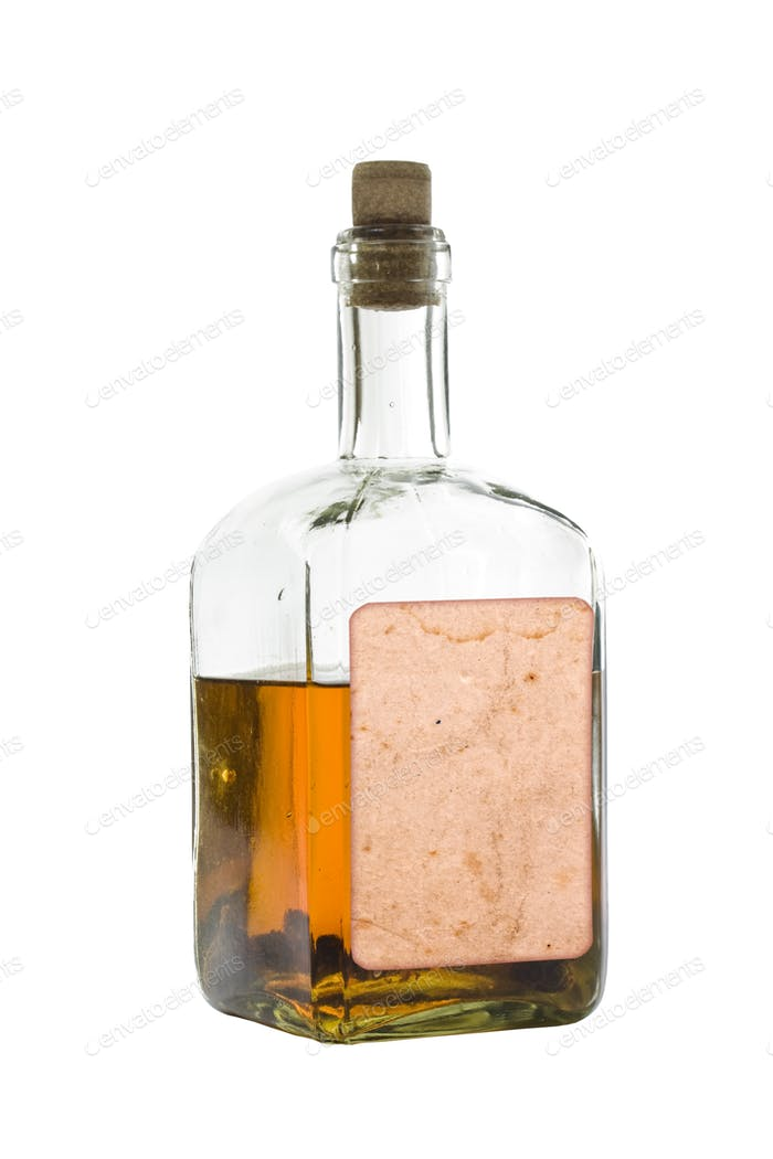 Antique bottle of spirits