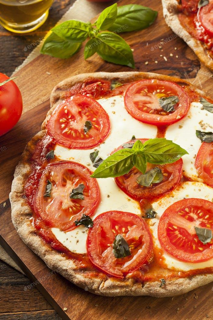 Organic Homemade Margarita Pizza