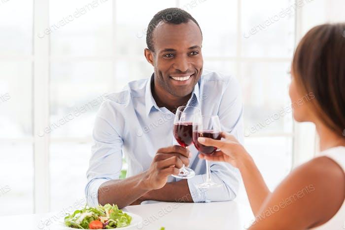 Dinning together.