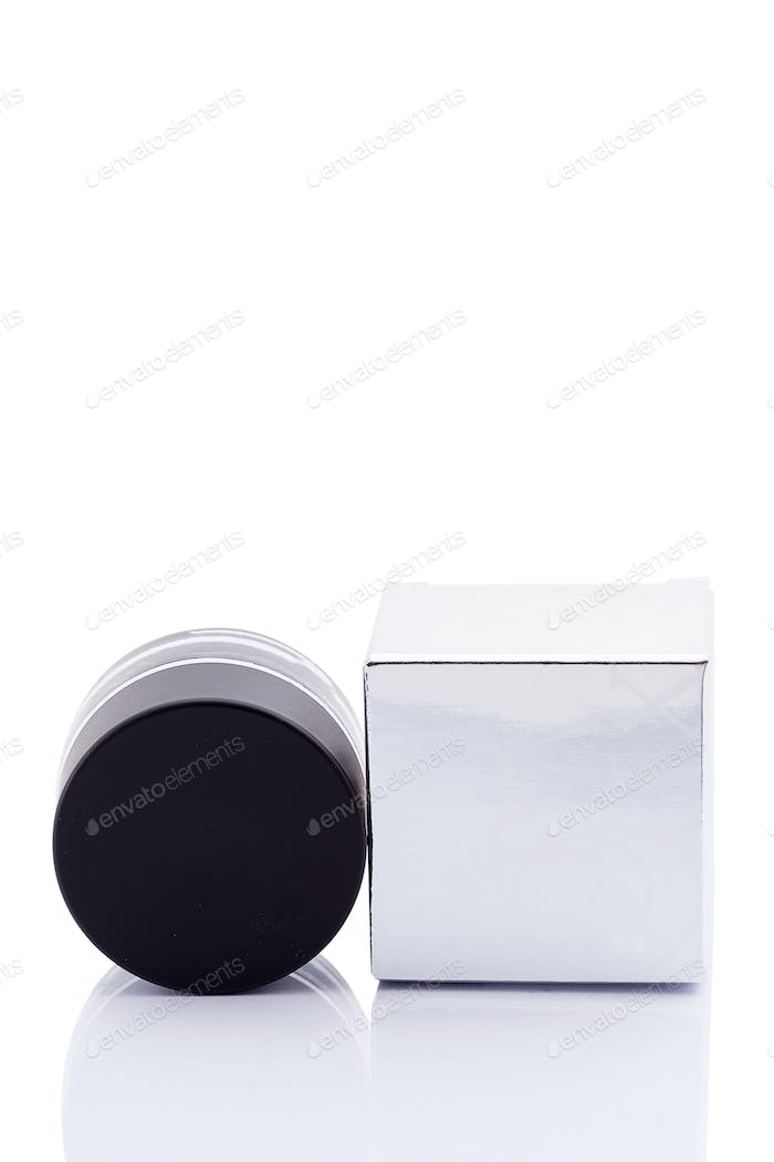 Cosmetic products isolated over white background