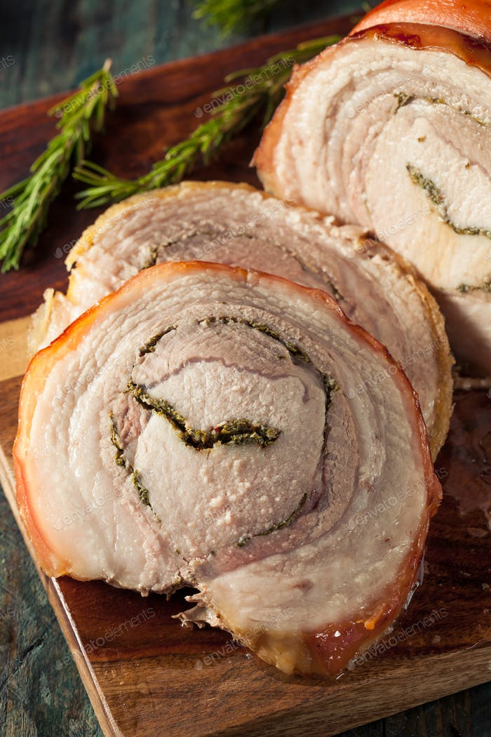 Homemade Rolled Porchetta Roast