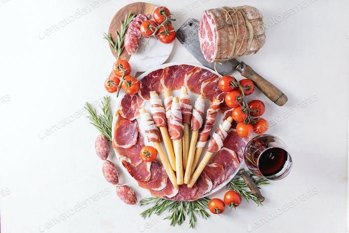 Auswahl an Wurstfleisch