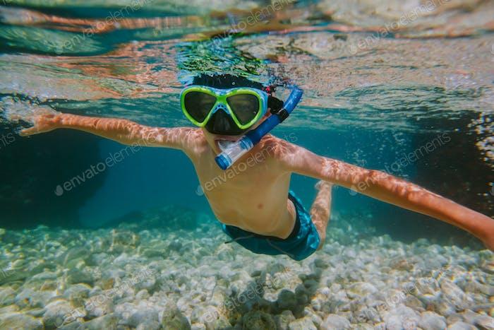 Child snorkeling.