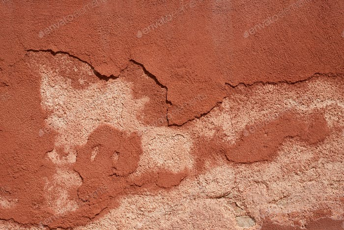 Brown painted peeled wall texture background