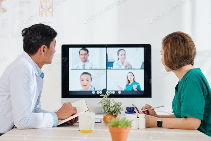 Онлайн конференция врачей
