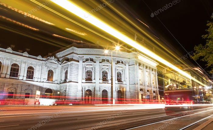 Burgtheater in Vienna Austia at night