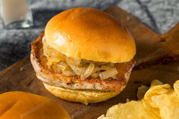Homemade Chicago Pork Chop Sandwich