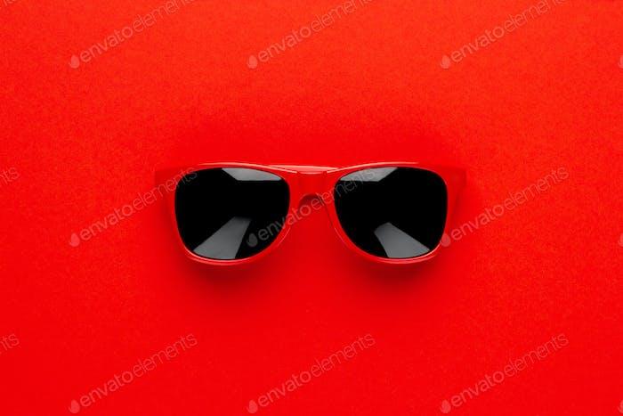 Studio Shot of Red Sunglasses