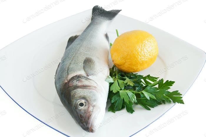 sea bass with lemon and parsley