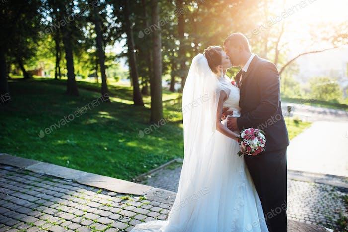Portrait de couple de mariage