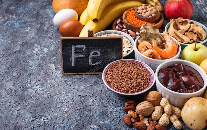 Gesunde Produktquellen von Eisen