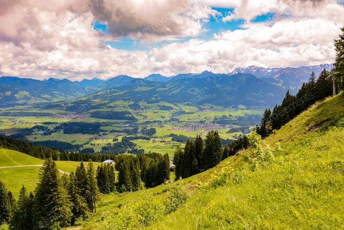 Mountain landscape in the Allgäu