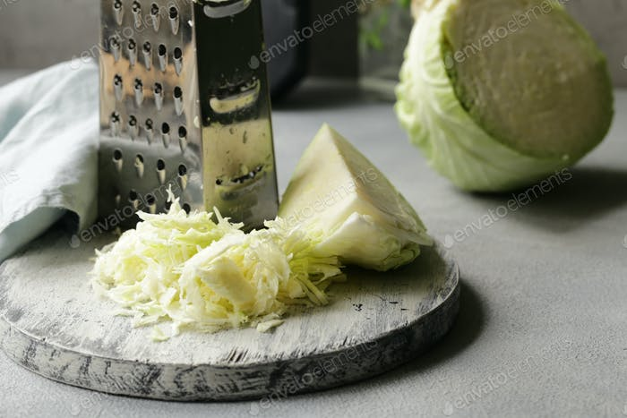 Geschnittener Kohl für Salat