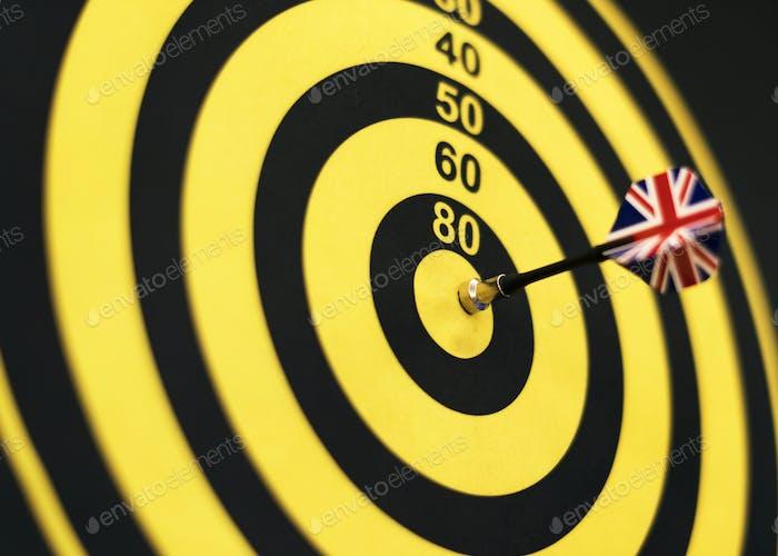 Bullseye score on a dartboard