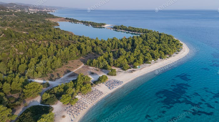 Paragga beach. Halkidiki, Greece