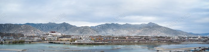 lhasa city panorama