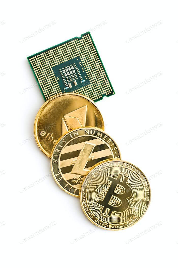 Bitcoin, ethereum, litecoin and CPU.