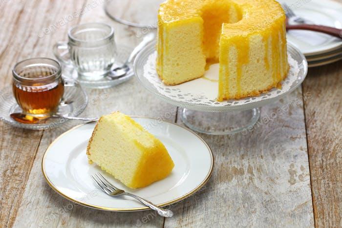 homemade orange chiffon cake