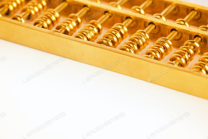 gold abacus closeup