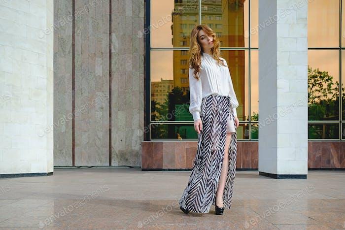 Woman Wearing High Fashionable Clothing