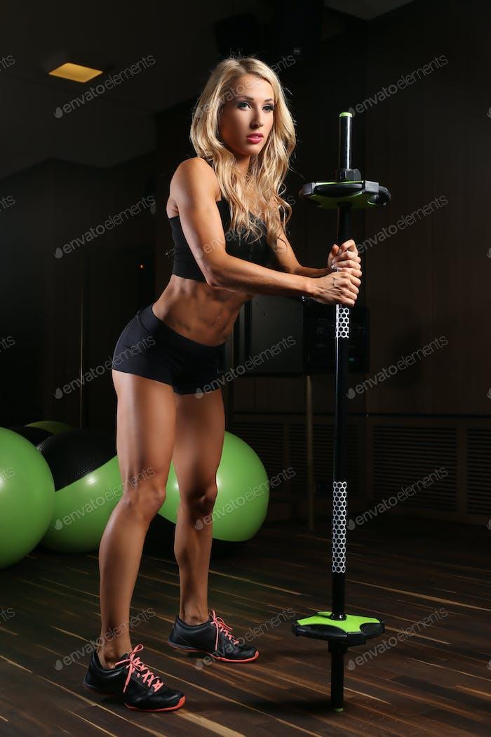 Blondy athletic female
