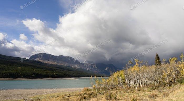 Storm Clouds Approaches Lake Sherburne Glacier National Park