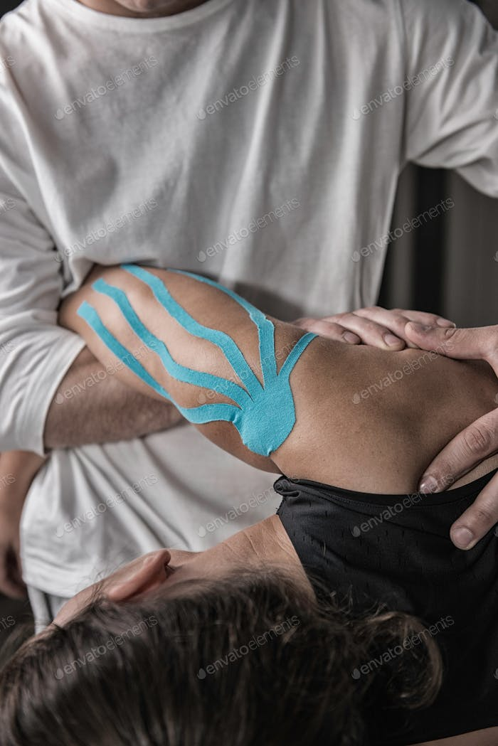Physical therapist doing treatment