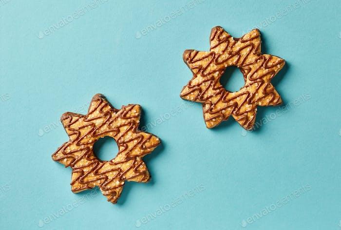 galletas en forma de estrella