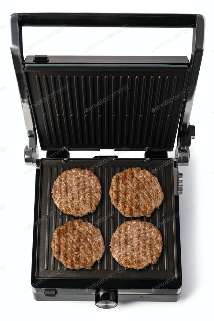 parrilla eléctrica hamburguesa carne