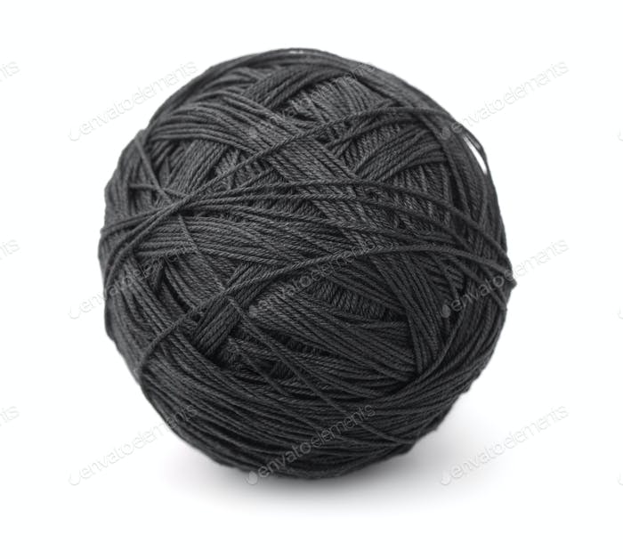 Ball of black thread