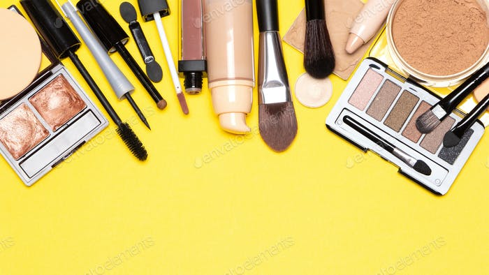 Beauty make up products for natural day makeup