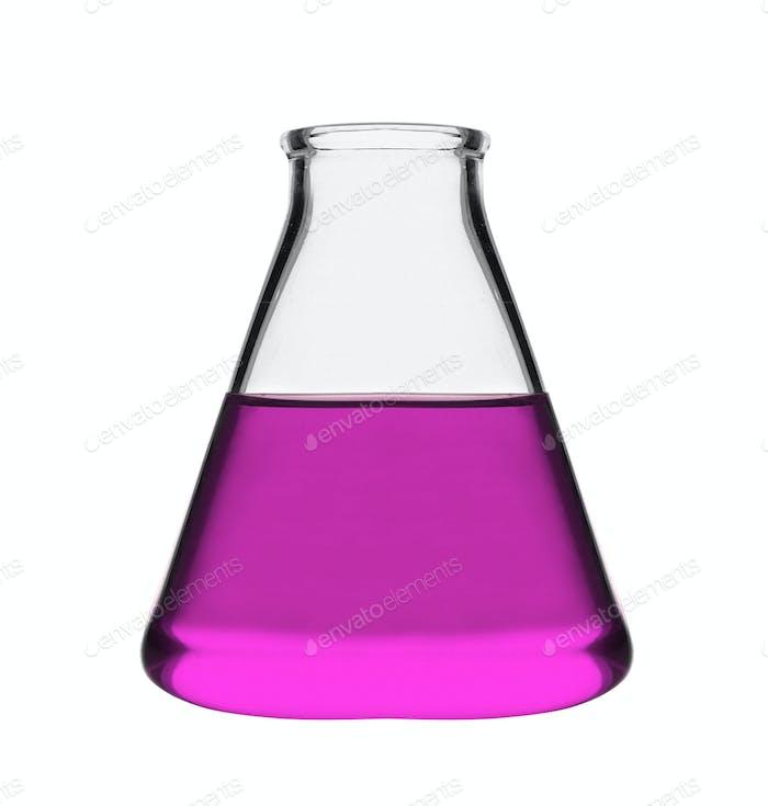 laboratory flask isolated