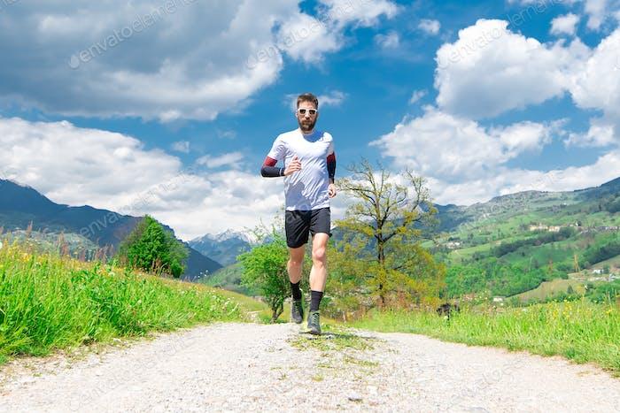 Marathon runner trains