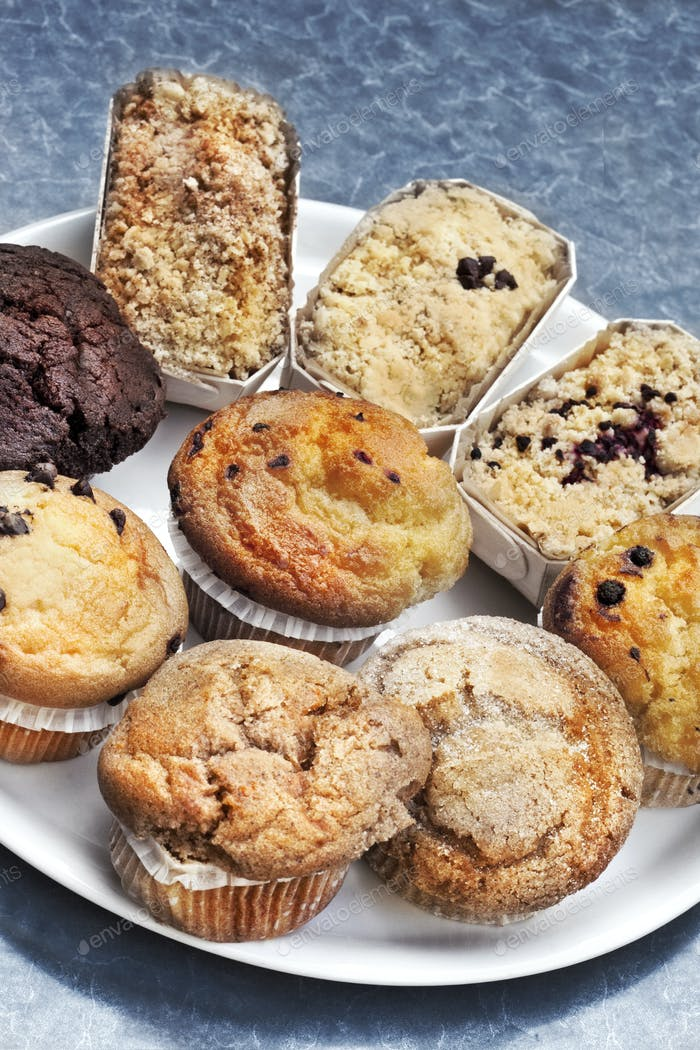Close up of various cakes