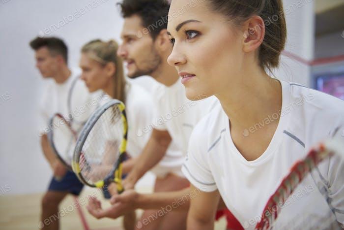 Squash demands a lot of focus