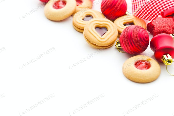 Xmas decoration and jelly cookies.