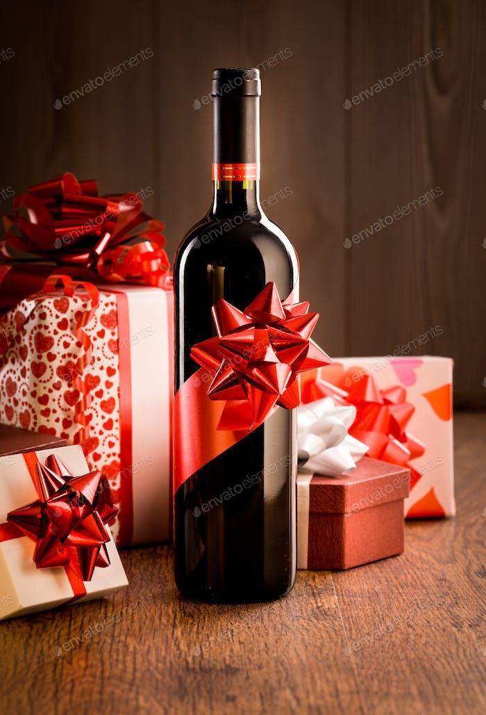 Exklusives Weinflaschengeschenk