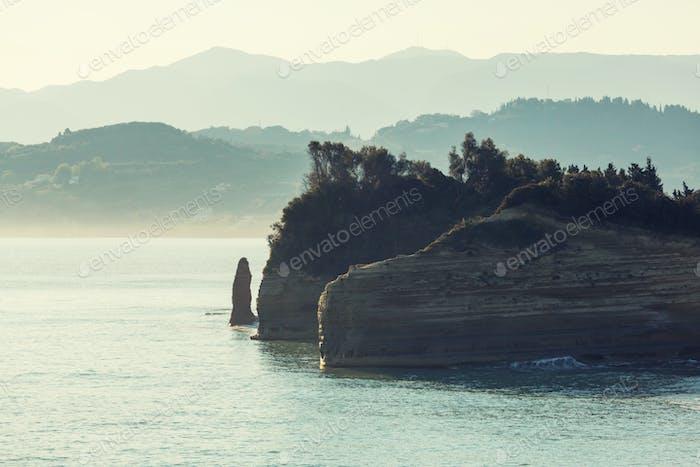 Corfu coast