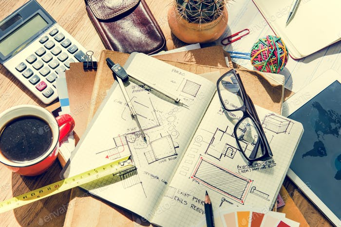 Concepto de Diseño de interiores de proyecto de Arquitectura