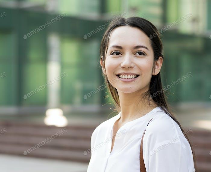 Beutiful Asian woman smiling