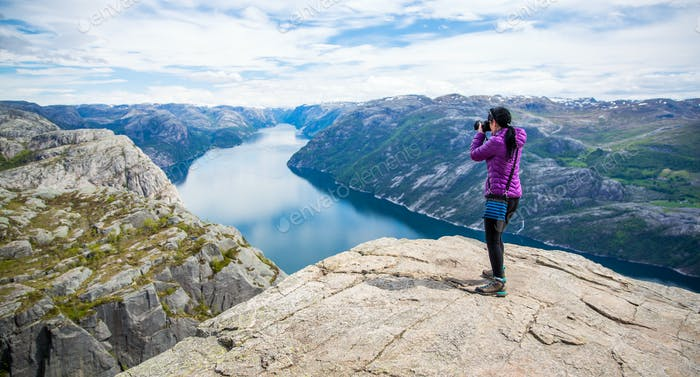 Nature photographer Beautiful Nature Norway Preikestolen or Prek