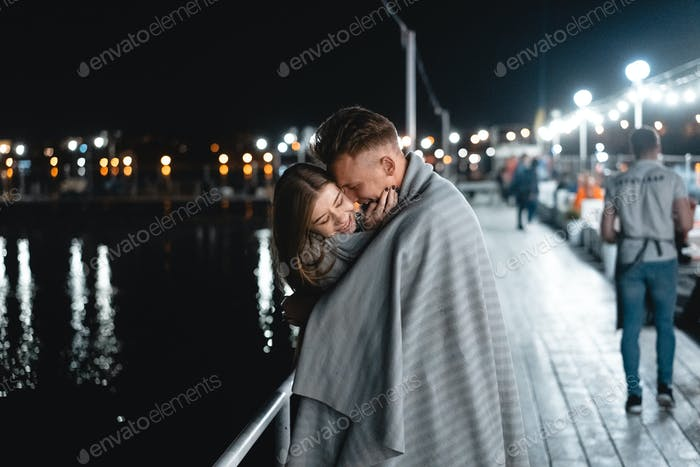 A pair of lovers on the waterfront