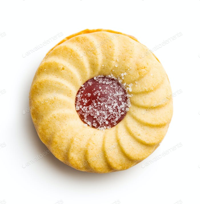 Jam ring biscuit.