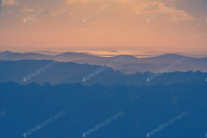Aerial view landscape.