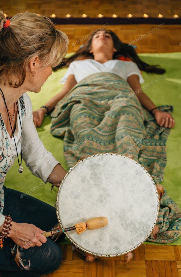 Indische Trommel in Klangtherapie