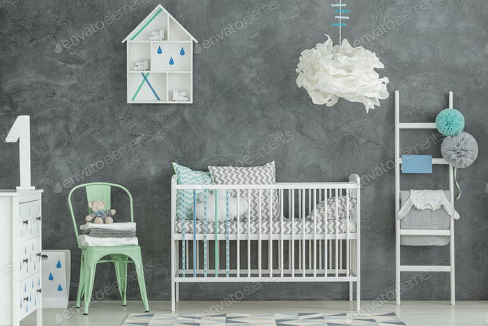 Scandi style baby boy room