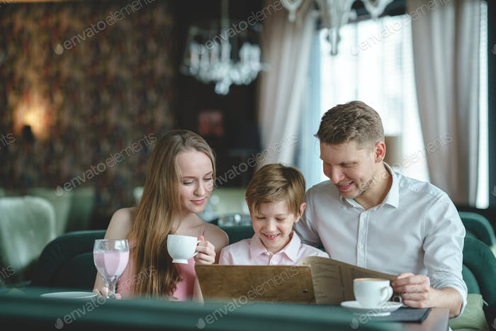 Young family with child
