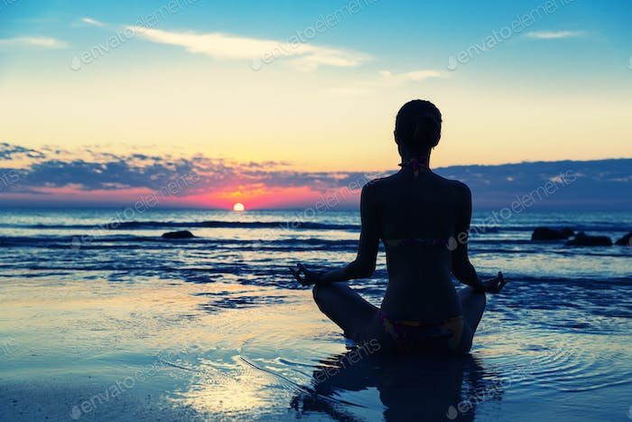 Meditation on the beach