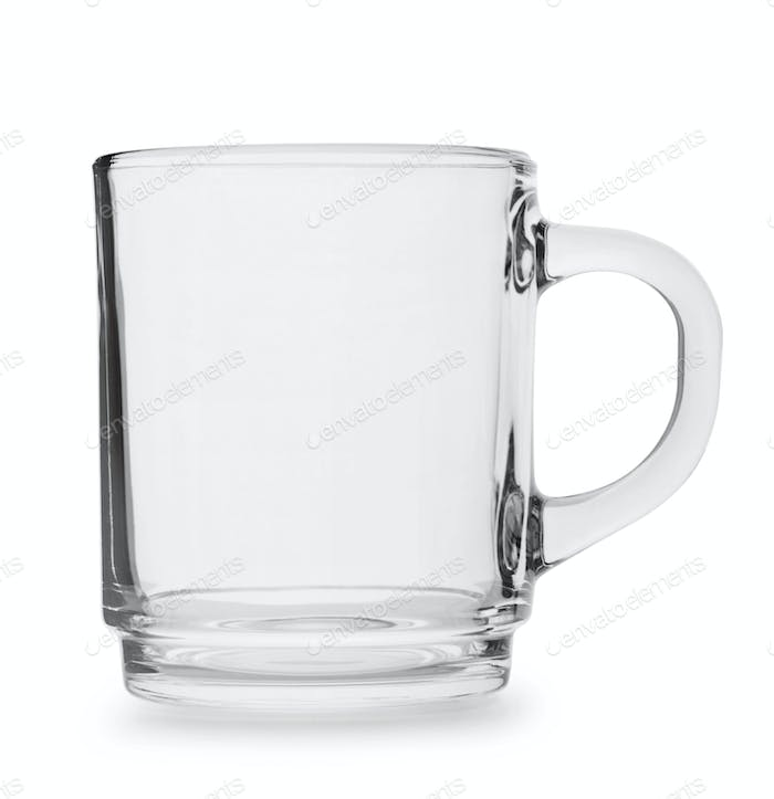 Glass cup with handle