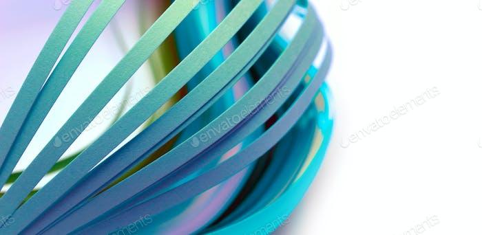 Abstrakte Farbe Wellenstreifen Papierhintergrund. Weiches Fokussieren